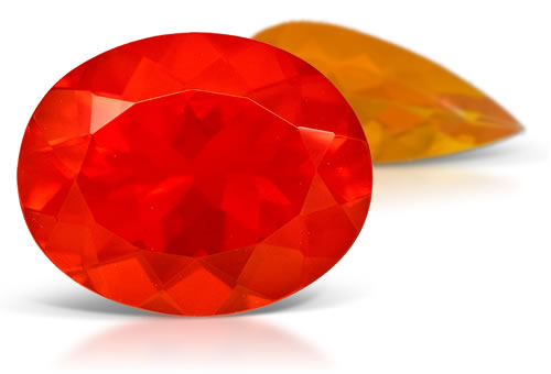 Fire Opal Polished