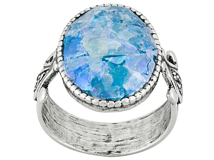Blue Roman Glass
