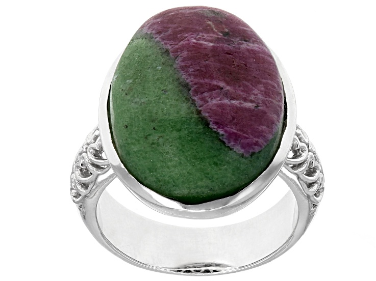 Bi-color Ruby-Zoisite