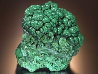 Malachite with Velvet texture