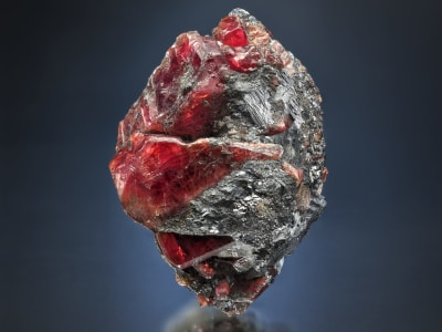 Rhodonite with Galena