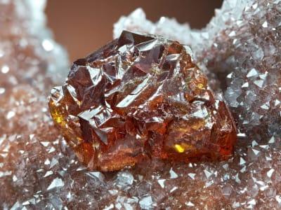 Sphalerite on quartz