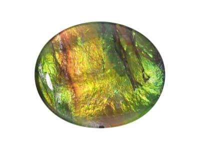 Oval tablet Ammolite Triplet