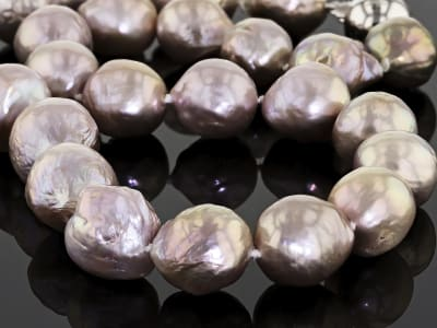 Baroque Multi-Lavender Cultured Freshwater Pearl