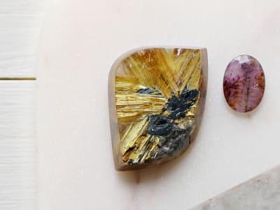 Two varieties of quartz gemstones