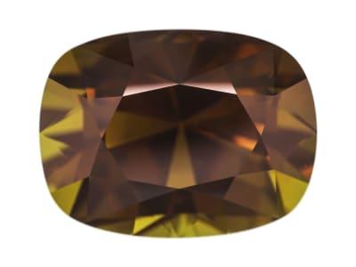 brown rectangular cushion dravite