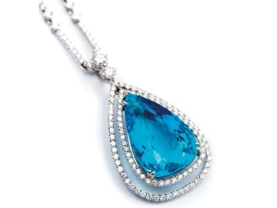 pear-shaped paraiba tourmaline necklace