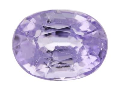 oval purple tourmaline