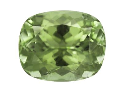 green rectangular cushion tourmaline