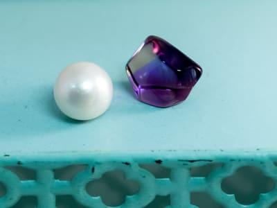 collecting gemstones
