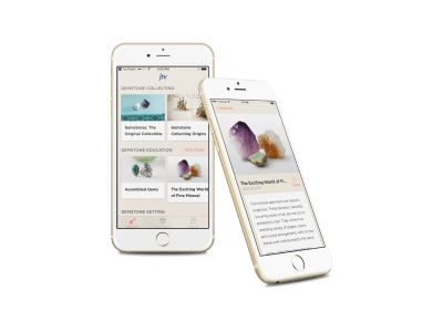 Gemstone Discovery App on Mobile Phone