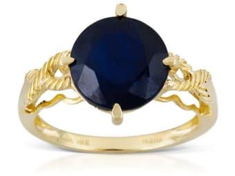 Cobalt-Lead Glass Filled Sapphire