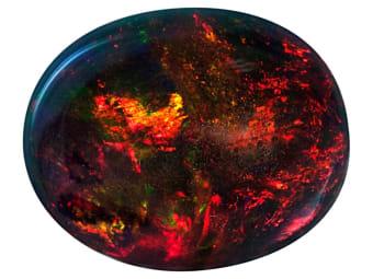 Smoke Treated Opal Opal
