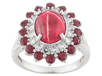 Lab Created Flame Fusion Star Ruby