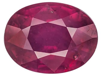 Lead Glass Filled Ruby