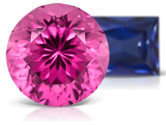Lab Created Flame Fusion Sapphire