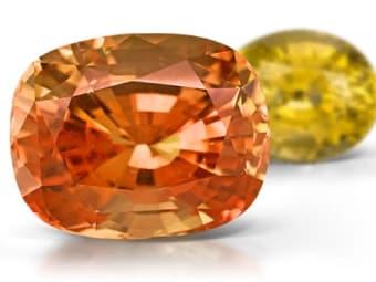Orange and Yellow Sapphire