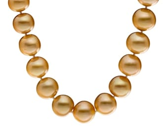 brown south sea pearl necklace