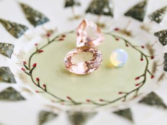 morganite & opal gemstones