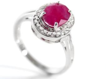 red kenya ruby ring