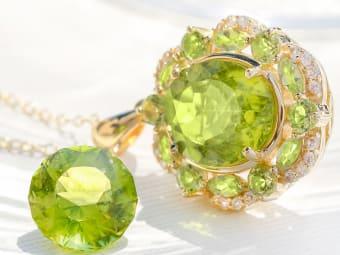 peridot gems and jewelry