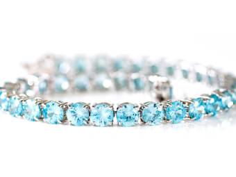 Blue Zircon Tennis Bracelet