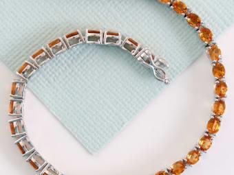 Spessartite Tennis Bracelet